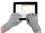 using the touch ability gloves