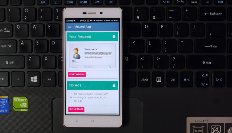 Make Professional Resume with Résumé App Android/ iOS Gadgets In