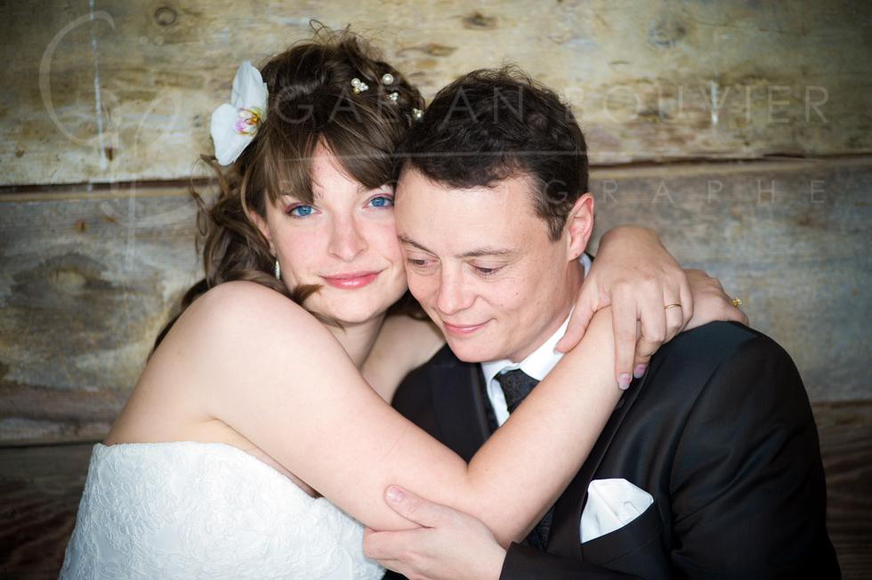 Photo de couple de jeune marié
