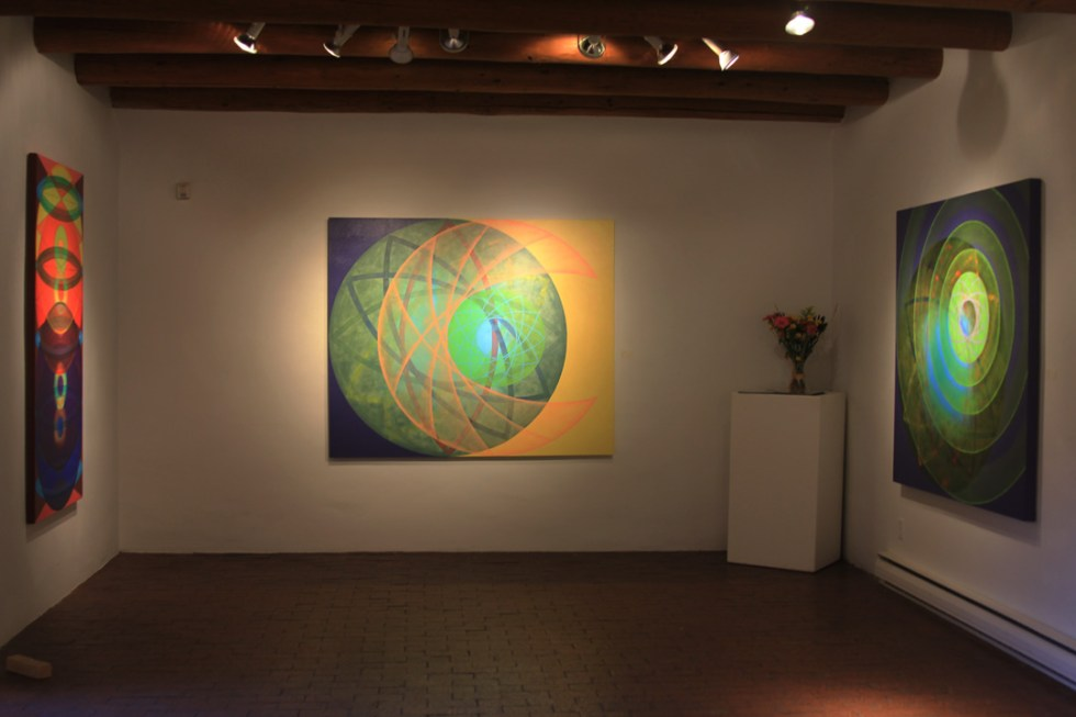 Gail Buono, 88, LAUNCH, and TIRA MI SU 2, installation at  Tom Ross Gallery, Nov. 2014