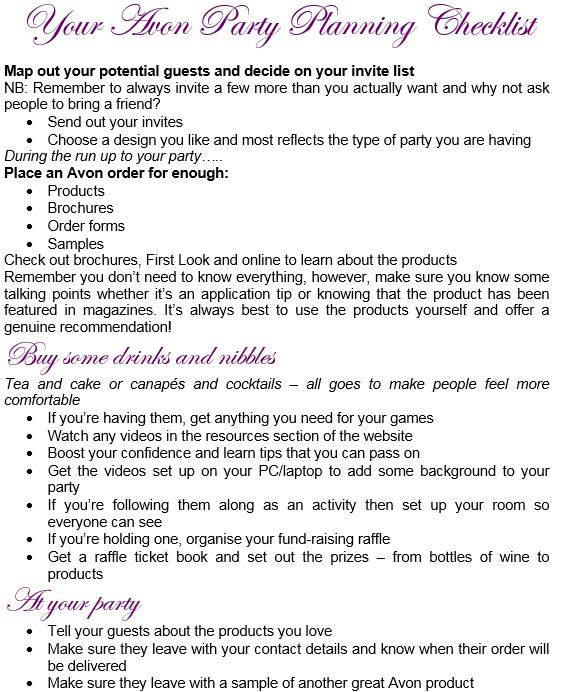 How to Host an Avon Party and boost your Sales -