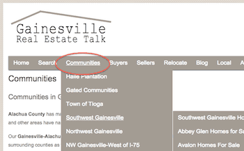 Gainesville Neighborhoods Home Search
