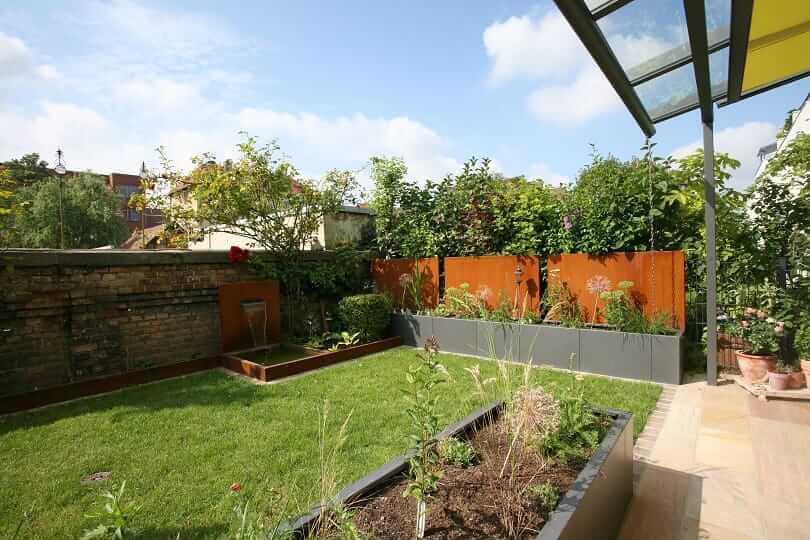 Bilder terrassengestaltung ideen modern, mediterran, mit pflanzen - gartengestaltung reihenhaus beispiele