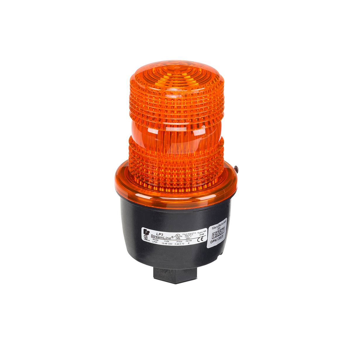 LP3P-120A - Federal Signal Strobe, 120VAC, Amber, Pipe Mount