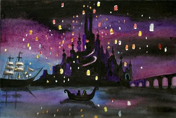 Famous Paintings Wallpaper Iphone Peinture Raiponce Paysage Disney