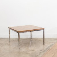 Table basse carre chrome/formica - DLG F. Knoll