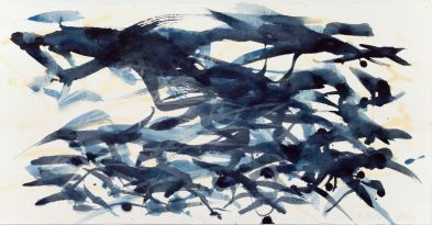 Max Uhlig // Himmelsstudie Aquarell auf Bütten 2004