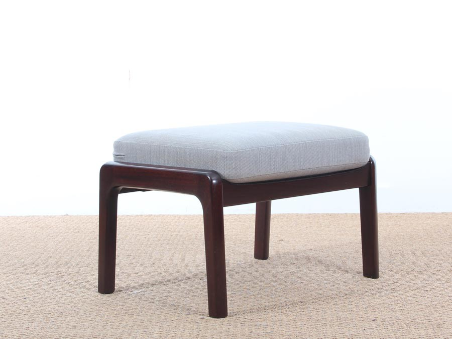 Mid century modern danish foot rest in mahogany for lounge