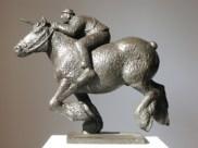 Ringrijder - brons - 35 cm hoog