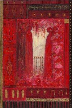 petite chanson d'amour 2 acryl op papier op paneel 30 x 20 cm (1)