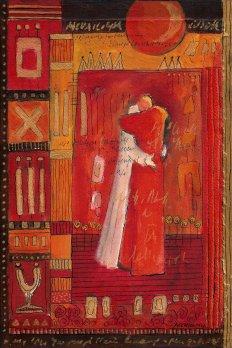 petite chanson d'amour 3 acryl op papier op paneel 30 x 20 cm (1)
