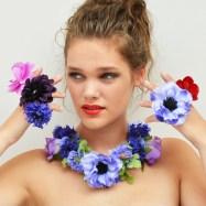 necklace flower silk all 300