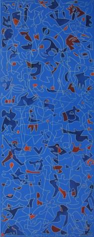 Lady in blue 60x150 B