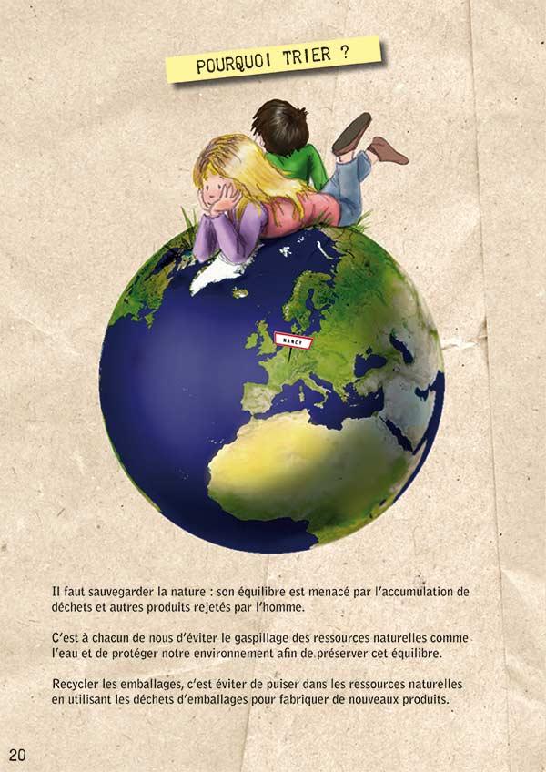 enfants sur planète