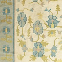Gallery BAC | Flat-weave floral pattern carpet