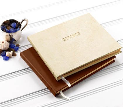 Personalized Leather Guest Book Gallery Leather Maine