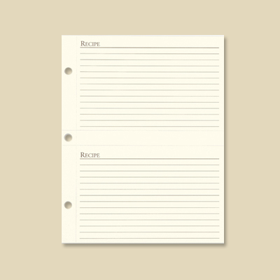 Recipe Organizer Card Refill - 4x6quot; Gallery Leather Made in
