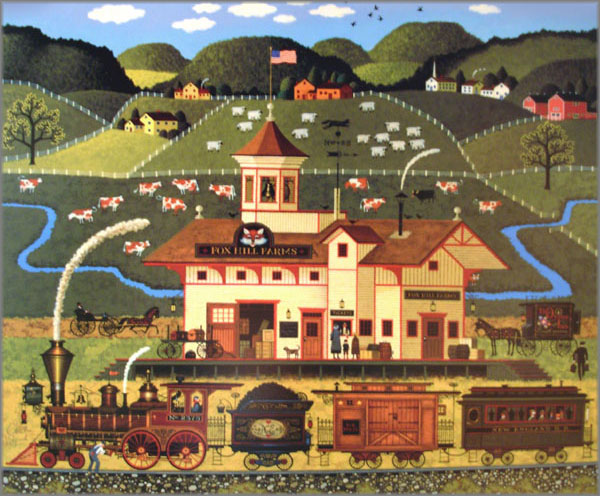 Fall Pumpkin Patch Wallpaper Charles Wysocki Originals Prints Canvases Posters And