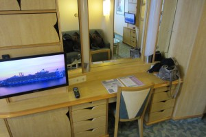 Mariner of the Seas desk/vanity