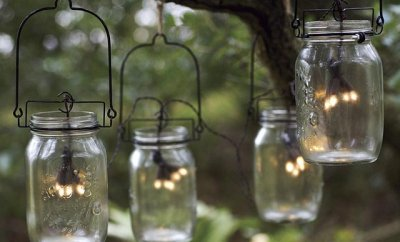 Glass Mason Jar Solar String Lights