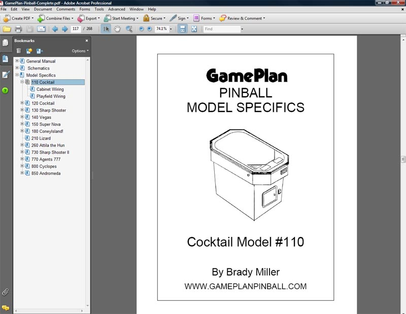 Game Plan Pinball Manuals  Schematics