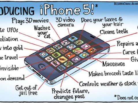 iPhone 5 caricatura