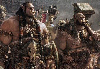 "(L to R) Orc chieftain Durotan (TOBY KEBBELL) leads his Frostwolf Clan alongside his second-in-command, Orgrim (ROB KAZINSKY), in Legendary Pictures and Universal Pictures' ""Warcraft,"" an epic adventure of world-colliding conflict based on Blizzard Entertainment's global phenomenon."