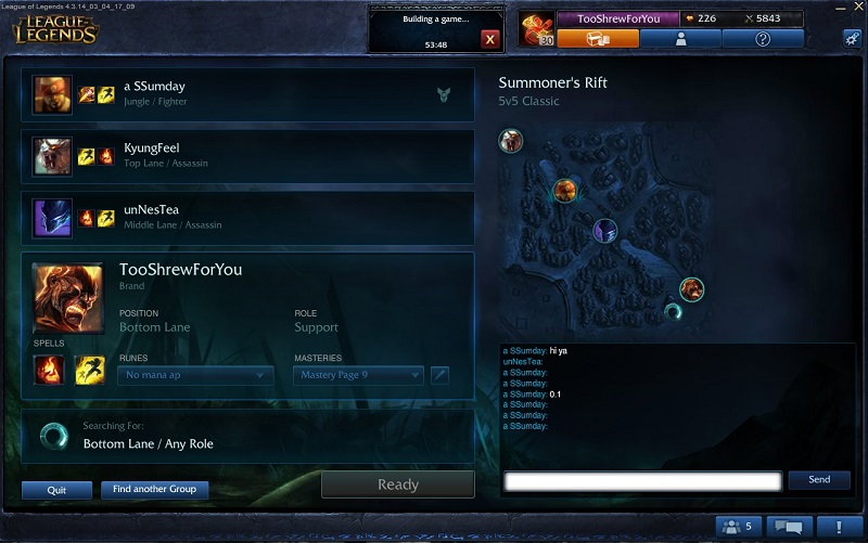 league screen 2