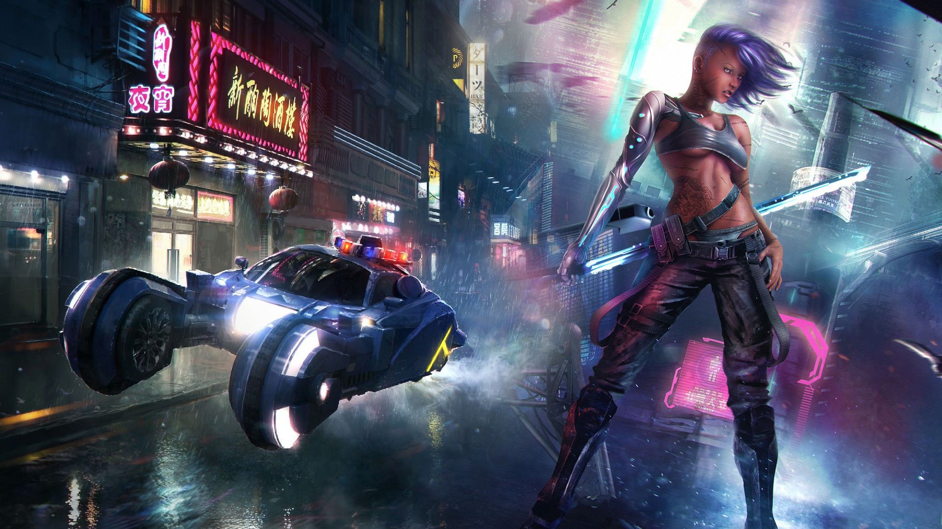 Cartoon Girl Wallpaper Cyberpunk 2077 May Or May Not Be Shown At This Year S E3