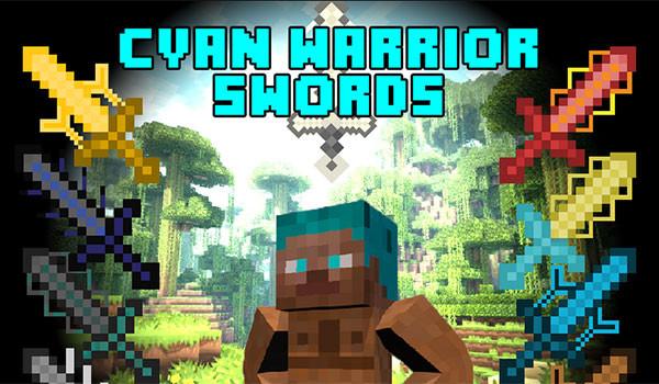 Cyan Warrior Swords Mod para Minecraft-gamersrd