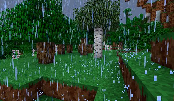 OreCruncher Better Rain Mod para Minecraft-GAMERSRD