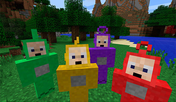 Teletubbie Mod para Minecraft-GAMERSRD