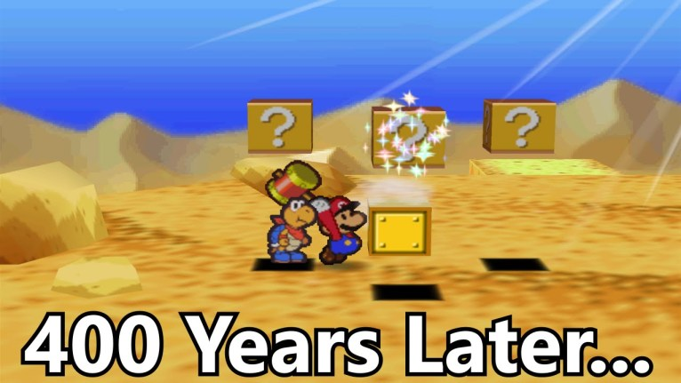 Hitting this Block for 416 Years Crashes Paper Mario-gamersrd