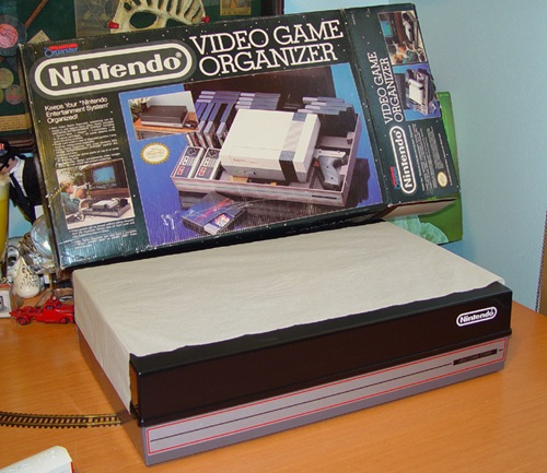 nes nintendo game system holder