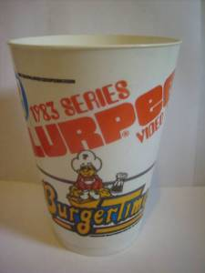 BURGERTIME 7-11 SLURPEE 1980s CLASSIC VIDEO GAME CUP