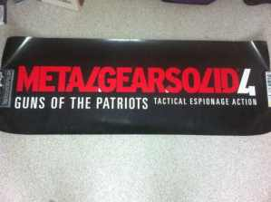 Metal Gear Solid 4 Banner Poster
