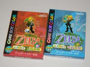Nintendo Gameboy Color Zelda no Densetsu ORACLE OF AGES & SEASONS Set