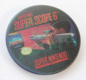 Super Nintendo Super Scope 6 Lenticular Pinback Button Badge