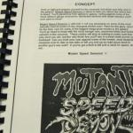 Rare 90s Unreleased Video Game Manuscript for SEGA GENESIS Mutant Speed Demons 2