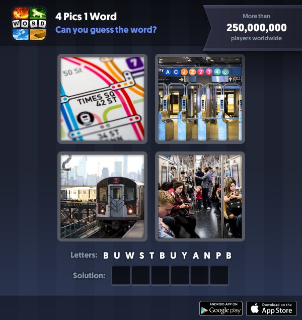 4 Pics 1 Word Daily Answers - Daily Updated!