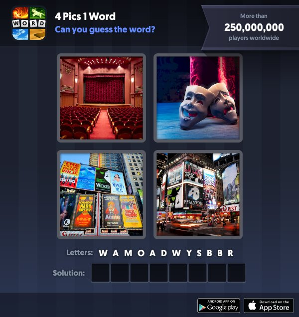 4 Pics 1 Word Daily Puzzle, January 9, 2019 New York Answers