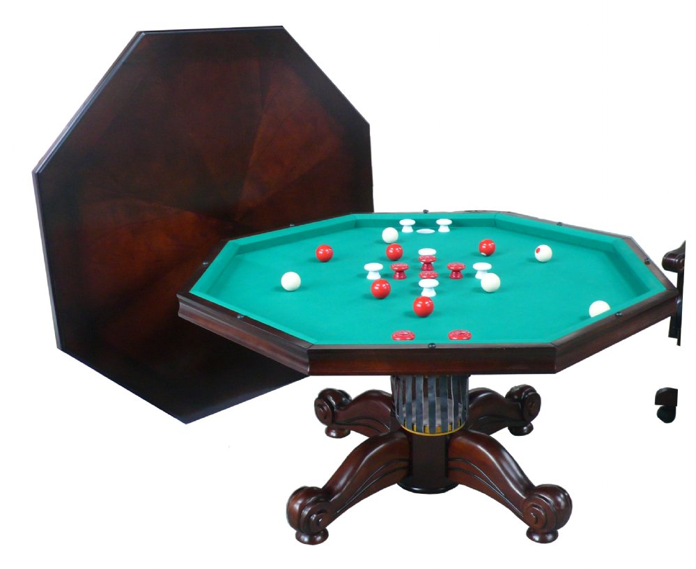 Berner Billiards 3 In 1 Table Octagon 54quot With Bumper