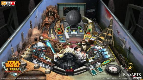 Star Wars Pinball_Episode_IV_Playfield