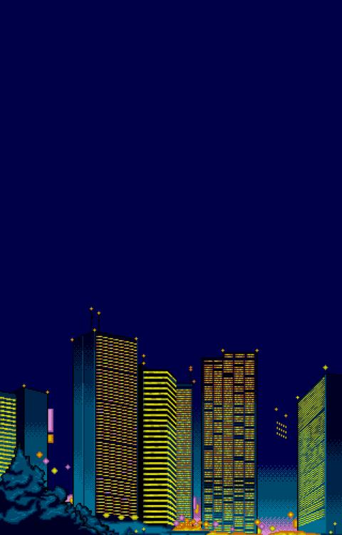 Free Animated Wallpaper Backgrounds These 8 Bit Cityscapes Make Up The City Building Video