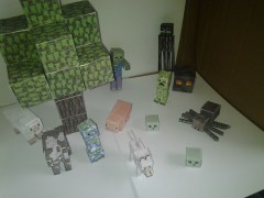 Papercraft Minecraft models