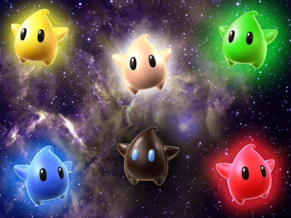 Super Mario Galaxy Wallpaper - Lumas