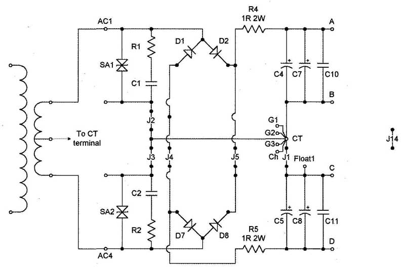 fig 1 circuit of one section if you look at the circuit you will