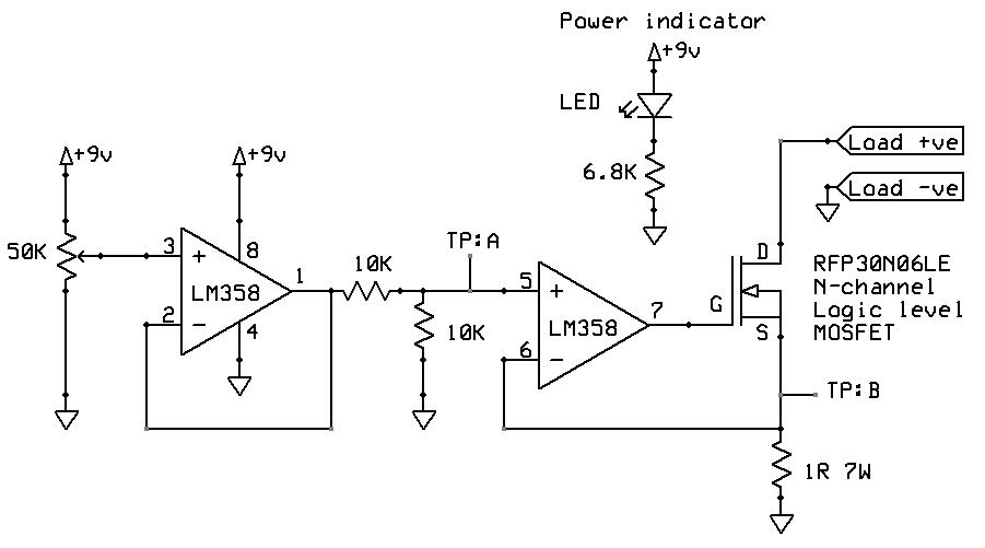 electronic load circuit design