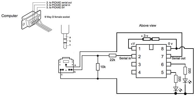 tricolour led circuit creator picaxe