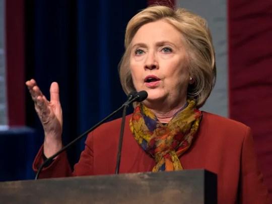 Hillary Clinton on Feb. 16, 2016 in New York.